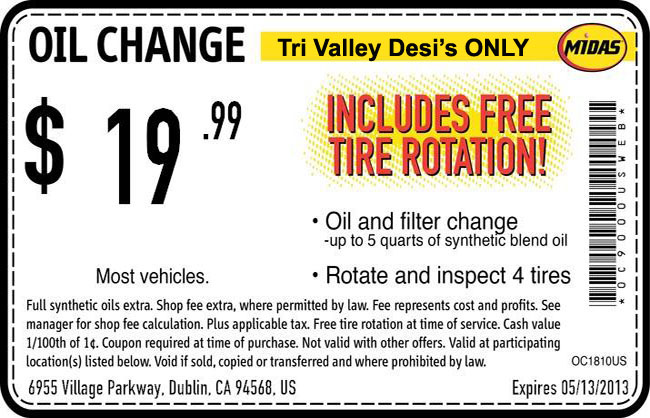 Deals On Oil Changes >> Midas Dublin 19 99 Oil Change And Other Deals For Readers