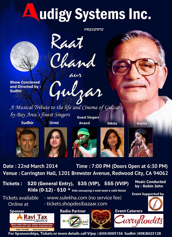 A Musical Tribute to the life and Cinema of Gulzar