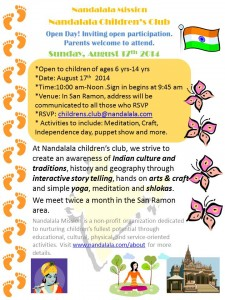 Nandalala Children's Club-OpenDay-Aug2014