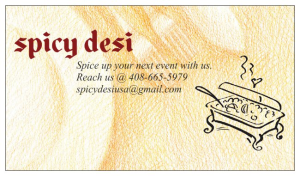 Spicy Desi Contact Card