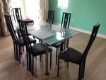Scandinavian design dining table and chairs for sale