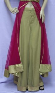 Velvet Jacket Anarkali Set
