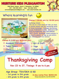 thanksgiving 2015 Camp flyer
