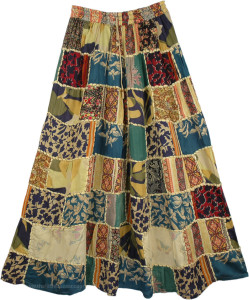 Bohemian Patchwork Skirt