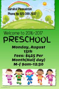 pre school 2016-17