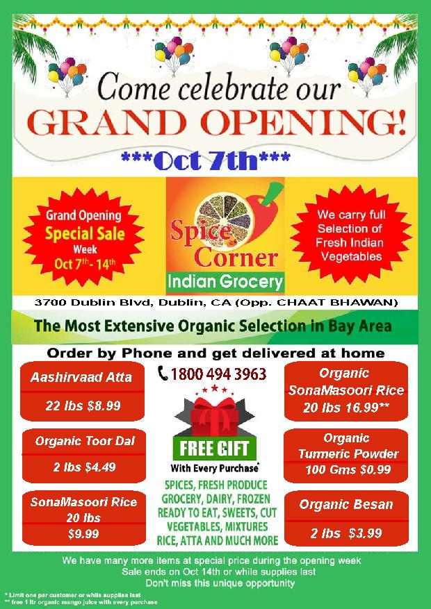 spice corner new organic focused indian grocery store in dublin
