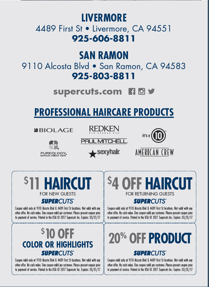 Supercuts Livermore San Ramon Coupons Connecting People In San