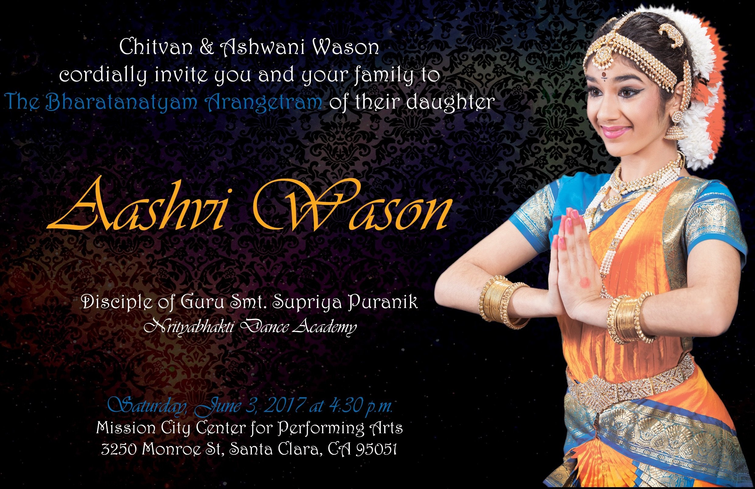 Arangetram Invitations Amazing Invitation Template Design By