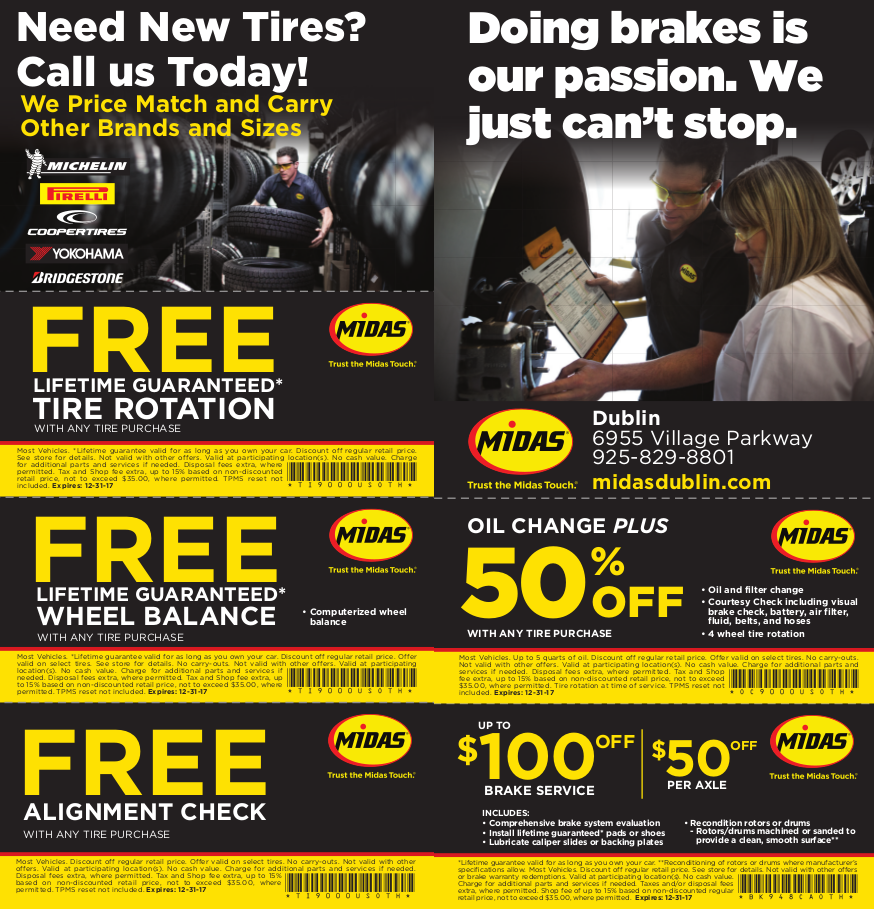 Pleasanton Toyota: Brakes – Oil Change – Tires