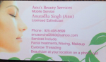 Anu's mobile beauty service