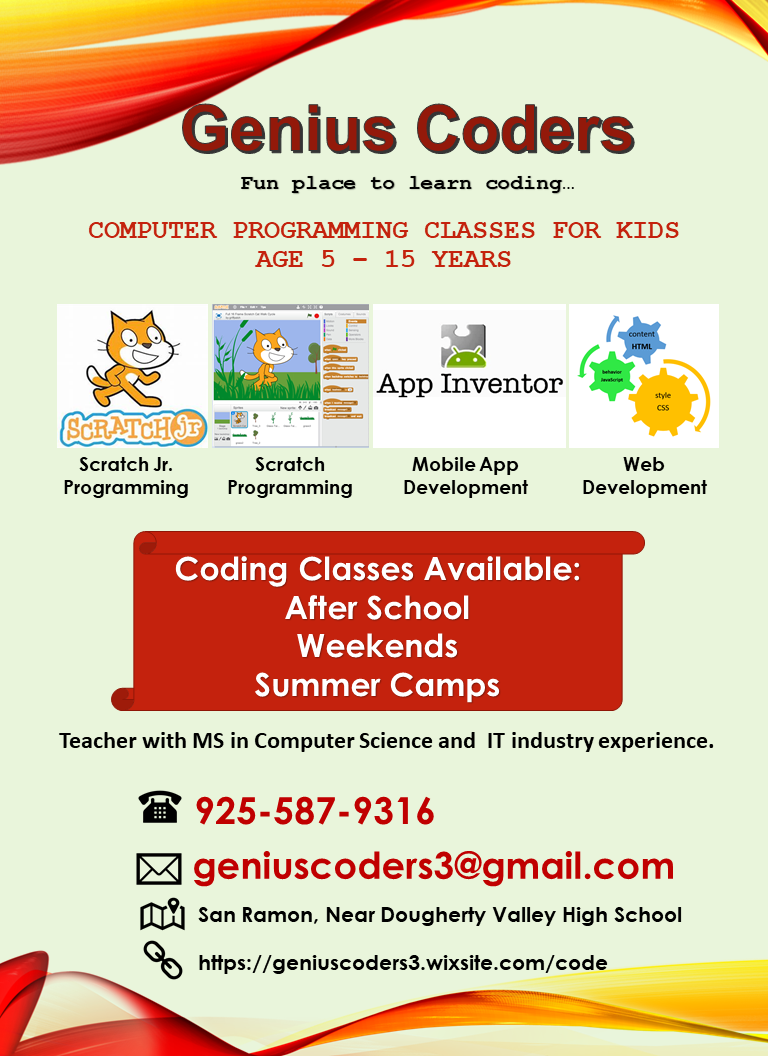 Programming For Kids Connecting People In San Ramon Dublin